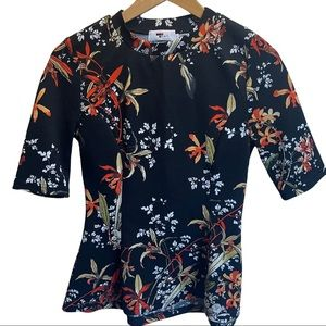 TEMT Size S Floral Sleeve Lovely Easy Wearing Top
